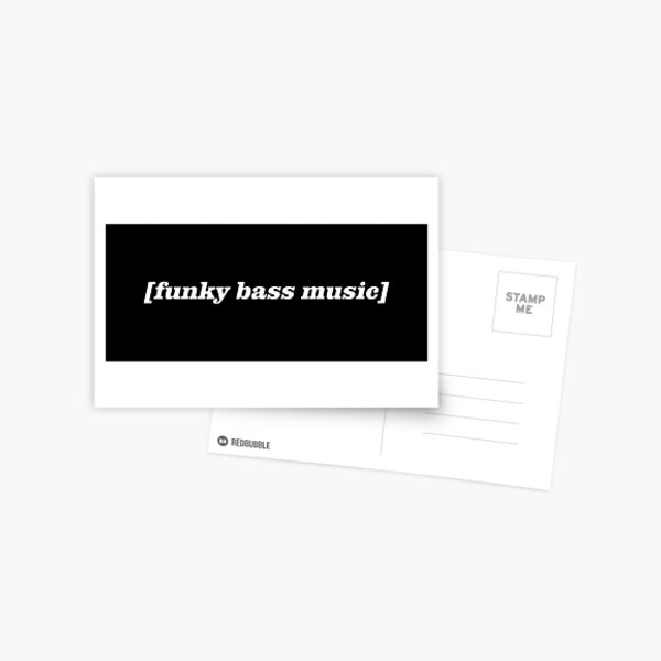 [funky bass music] Postcard