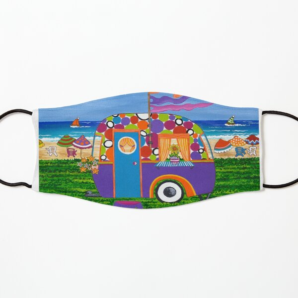 Caravan Holiday ~ Betty-Sue Kids Mask
