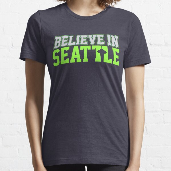 """VICTRS """"Believe In Seattle"""" Essential T-Shirt"""