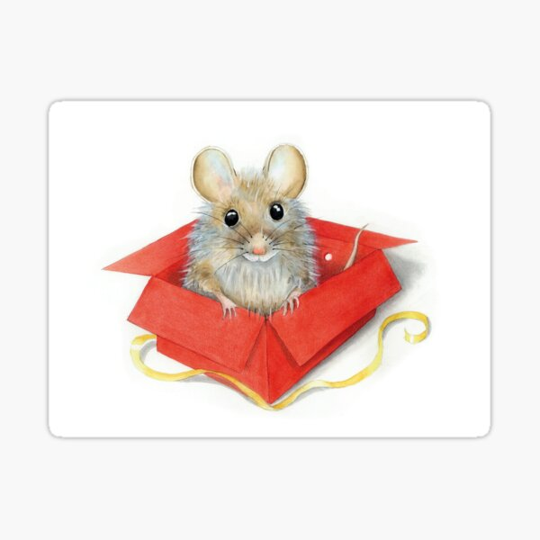 """Ratte in Box –aus """"Der weiße Elf"""" Sticker"""