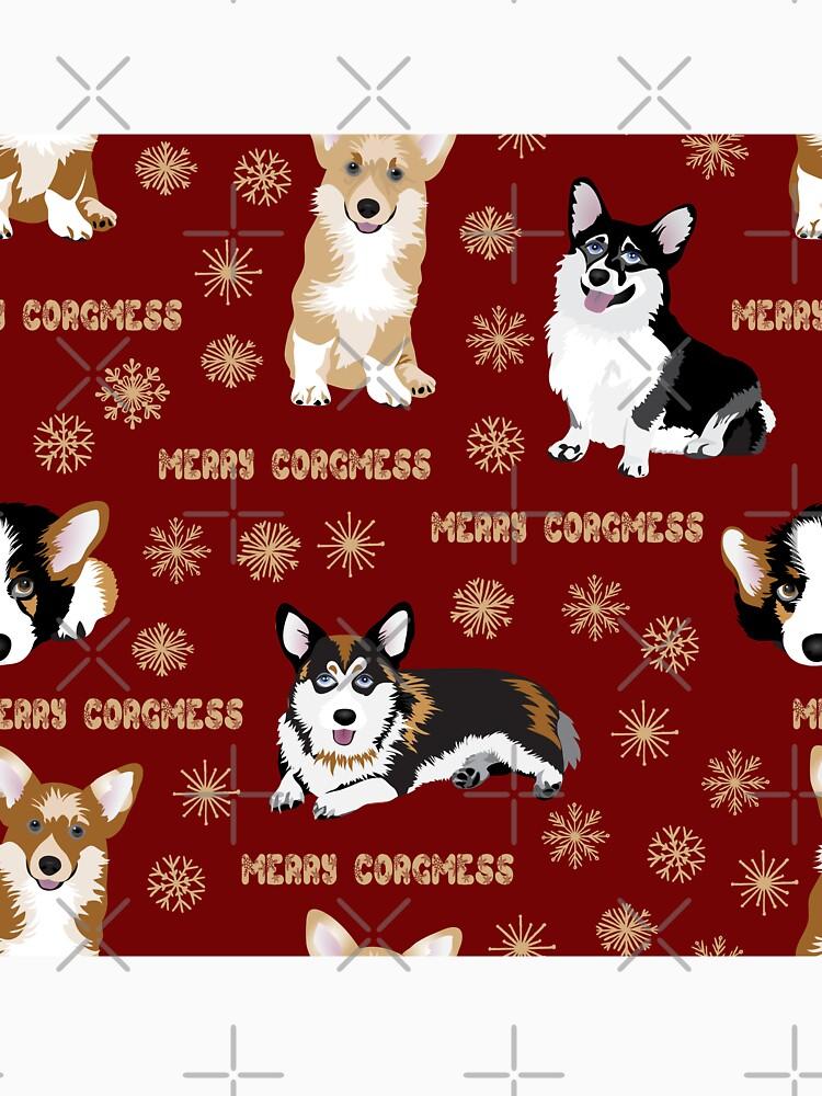 Merry Corgmess - red by Corgiworld