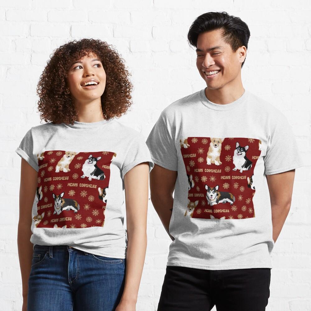 Merry Corgmess - red Classic T-Shirt