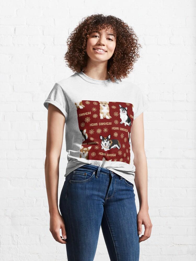 Alternate view of Merry Corgmess - red Classic T-Shirt