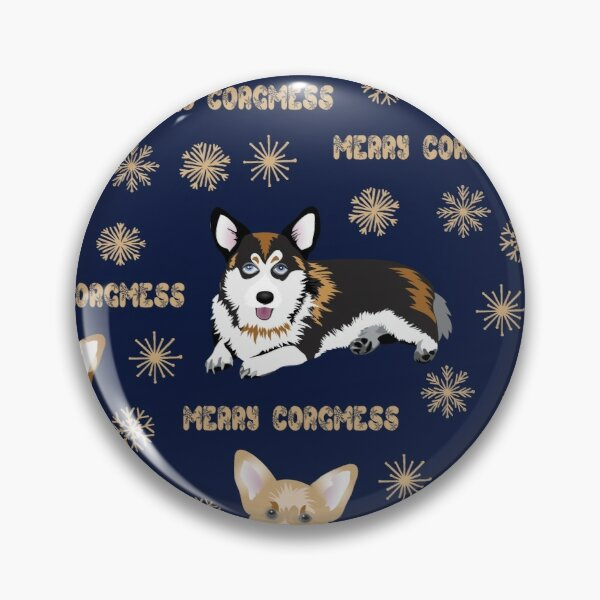Merry Corgmess - blue Pin