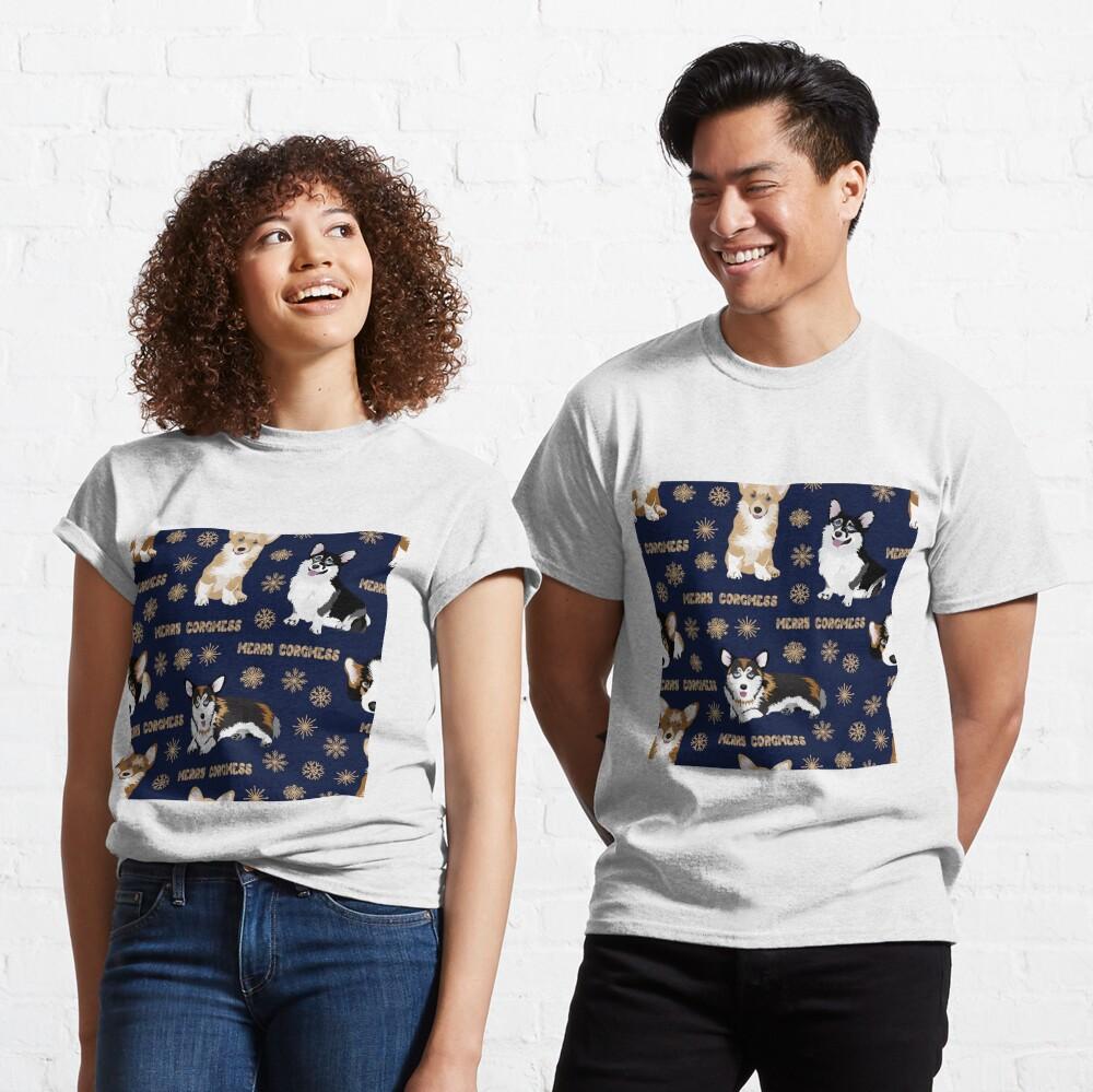 Merry Corgmess - blue Classic T-Shirt