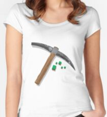 Minecraft T-shirt Women's Fitted Scoop T-Shirt