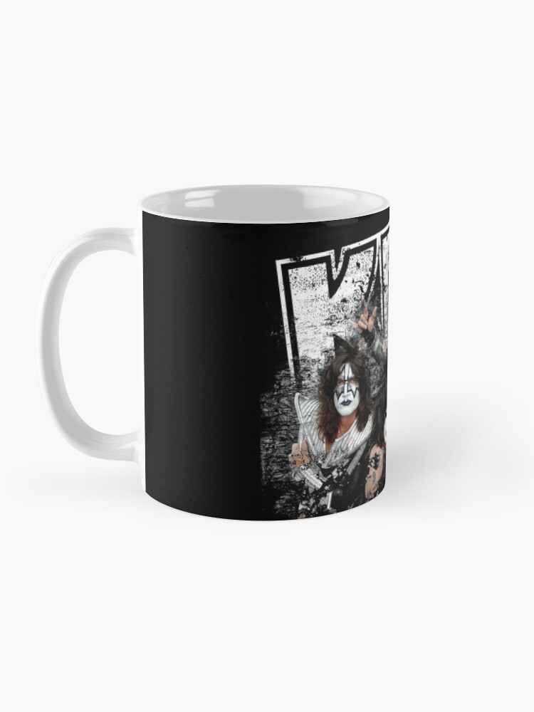 Alternate view of KISS rock music band - Black White Effect Logo and All Membersk music band  Mug