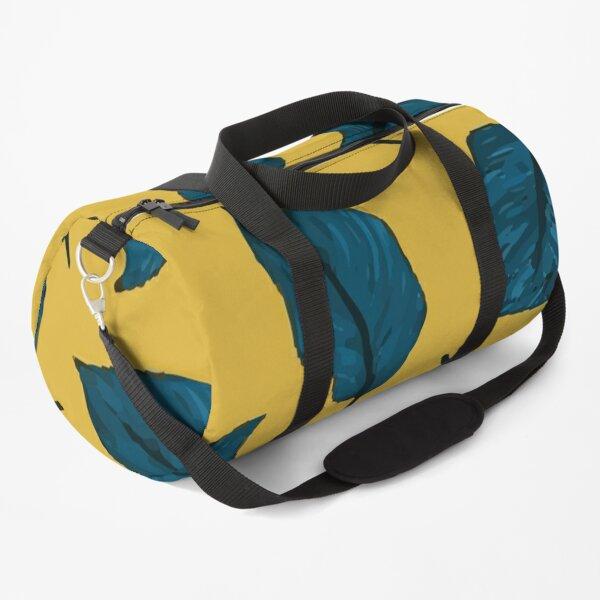 Exotic Palm Leaves Exotic Textile Botanical Design Summer Jungle Design Hawaiian Style Duffle Bag