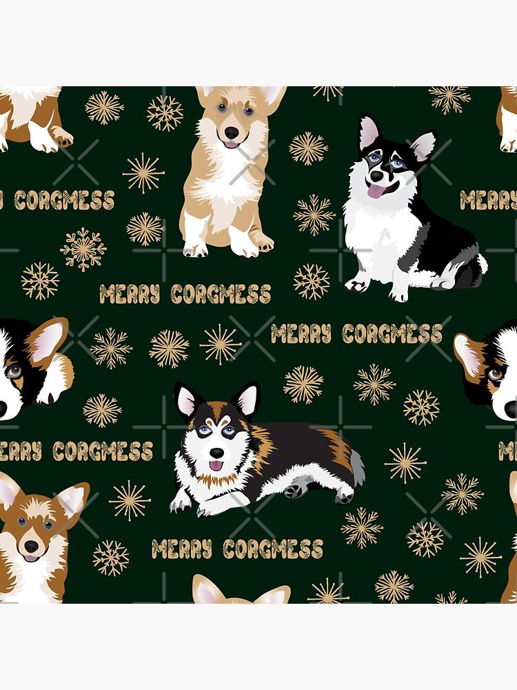 Merry Corgmess - green by Corgiworld