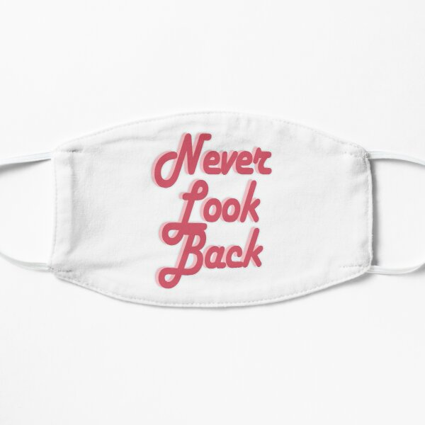 Never Look Back (Vintage Retro Motivational Quote - Groovy 70's Look) Mask