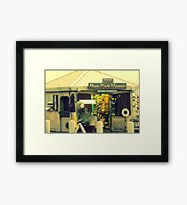 The Pier Bait House Framed Print