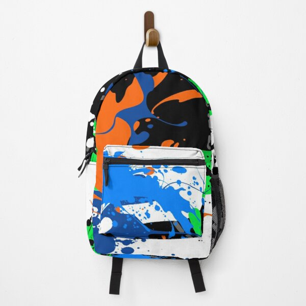 Beautiful Hand Splash Painting on a Shoe Backpack