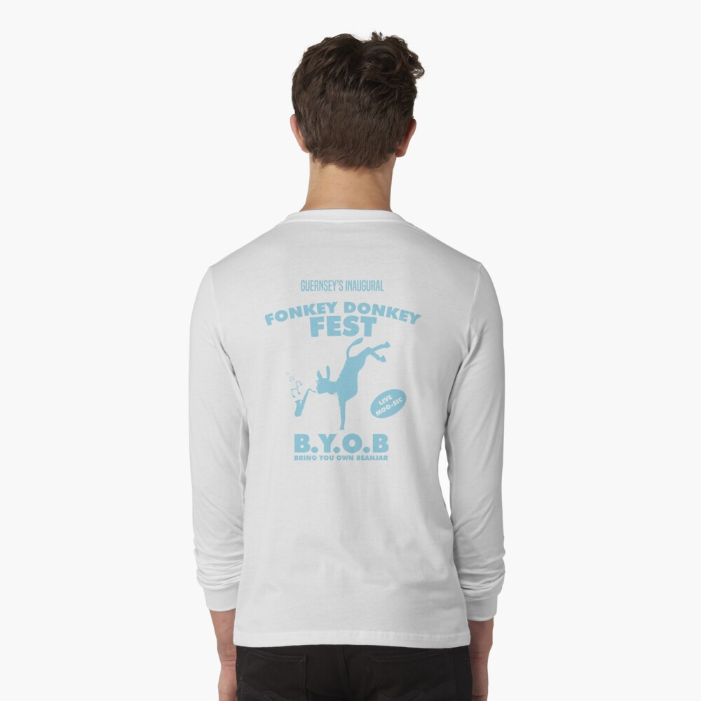 Fonkey Donkey - Light Blue Long Sleeve T-Shirt