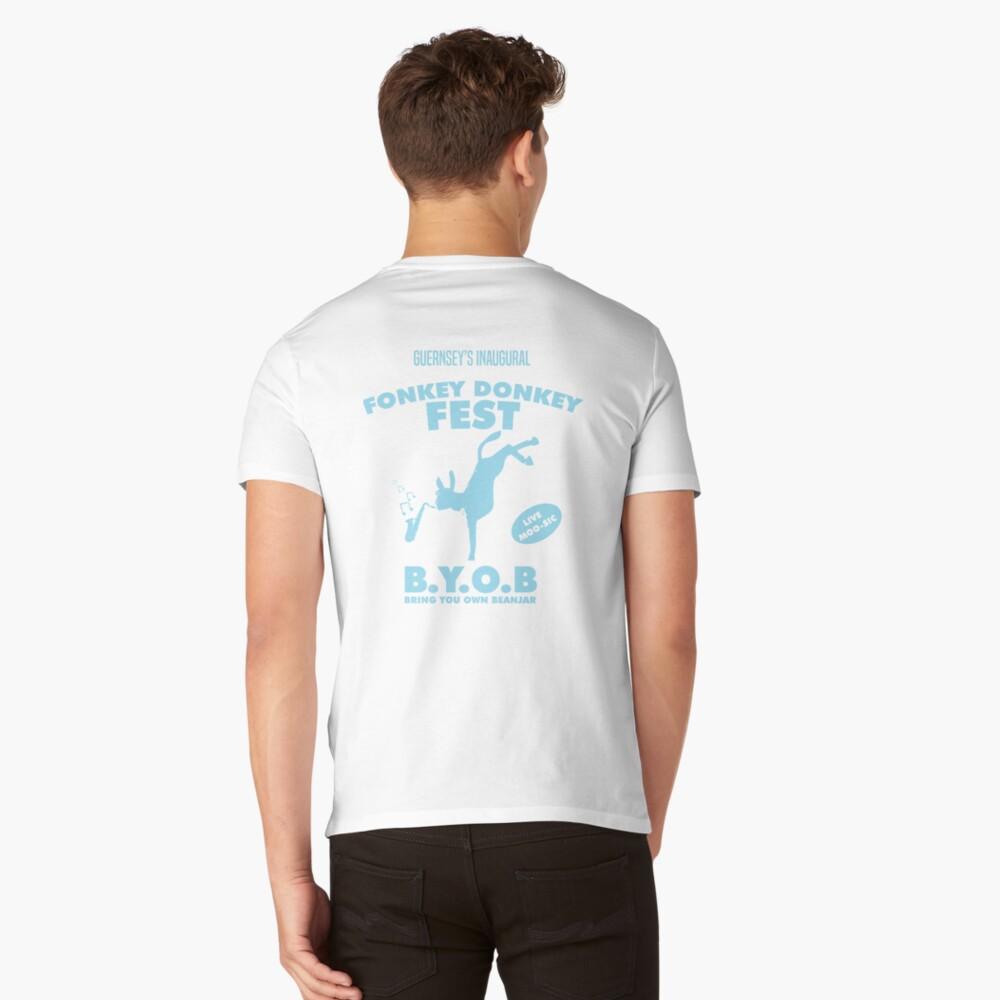 Fonkey Donkey - Light Blue V-Neck T-Shirt