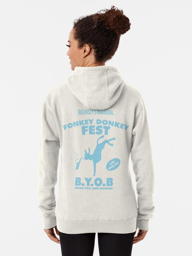Alternate view of Fonkey Donkey - Light Blue Pullover Hoodie