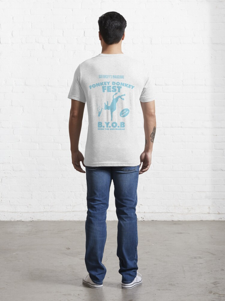 Alternate view of Fonkey Donkey - Light Blue Essential T-Shirt