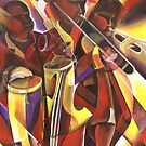 Music-Night of Salsa 7 AcryOnCanvas 18x24in by Mandell Maull