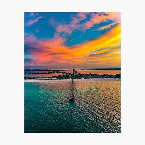 Pier Sunrise Photographic Print