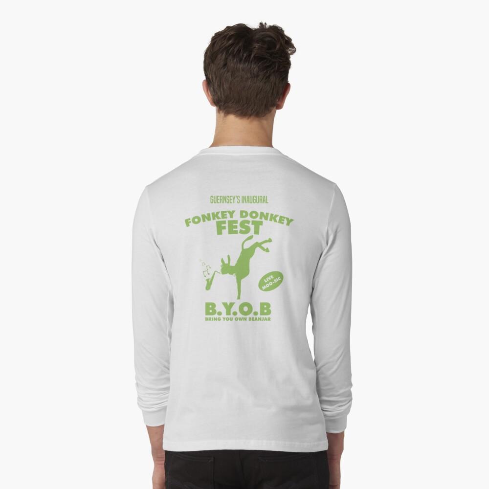 Fonkey Donkey - Green Long Sleeve T-Shirt
