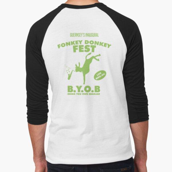 Fonkey Donkey - Green Baseball ¾ Sleeve T-Shirt