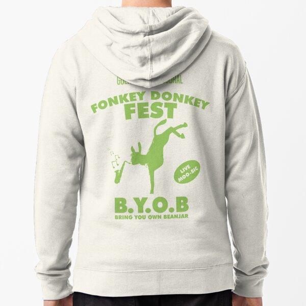 Fonkey Donkey - Green Zipped Hoodie