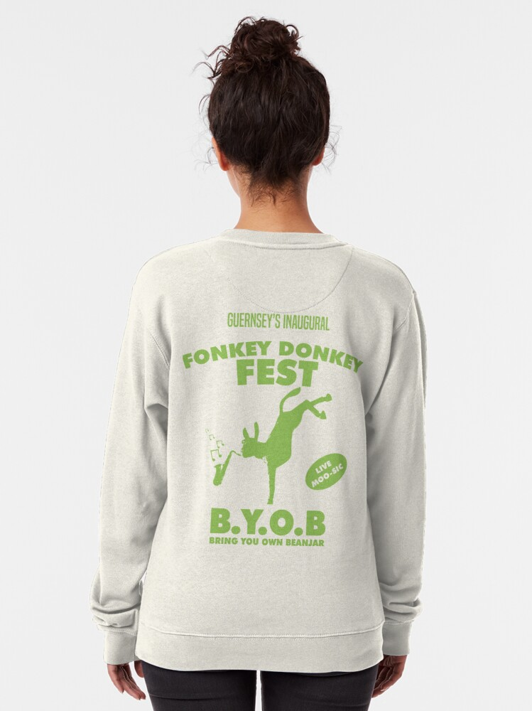 Alternate view of Fonkey Donkey - Green Pullover Sweatshirt