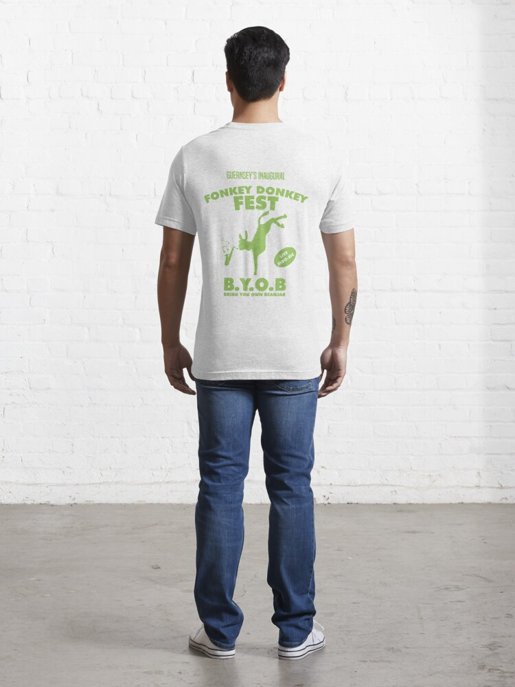 Alternate view of Fonkey Donkey - Green Essential T-Shirt