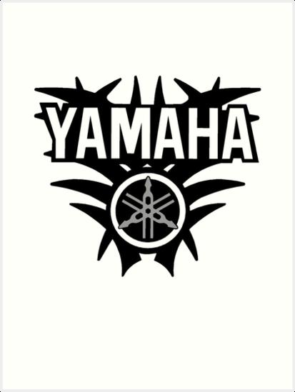 yamaha logo art prints by joeymacmc redbubble. Black Bedroom Furniture Sets. Home Design Ideas