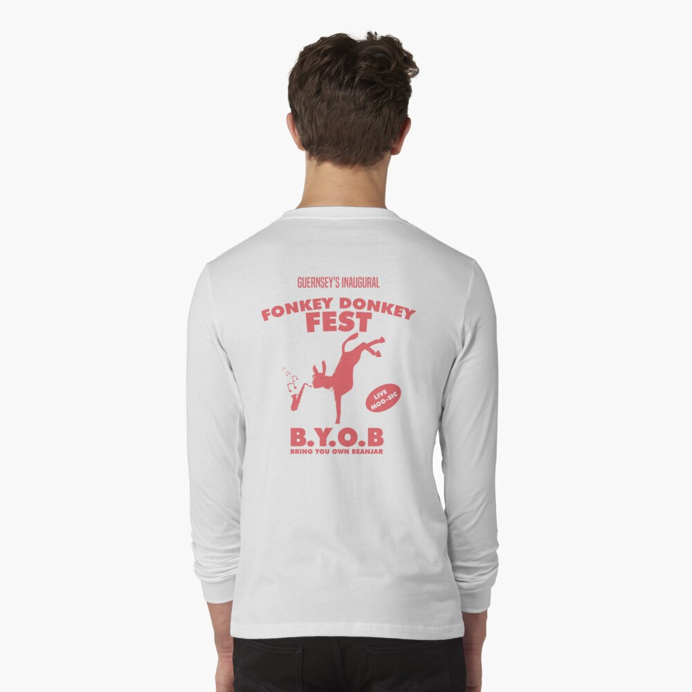 Fonkey Donkey - Coral Long Sleeve T-Shirt