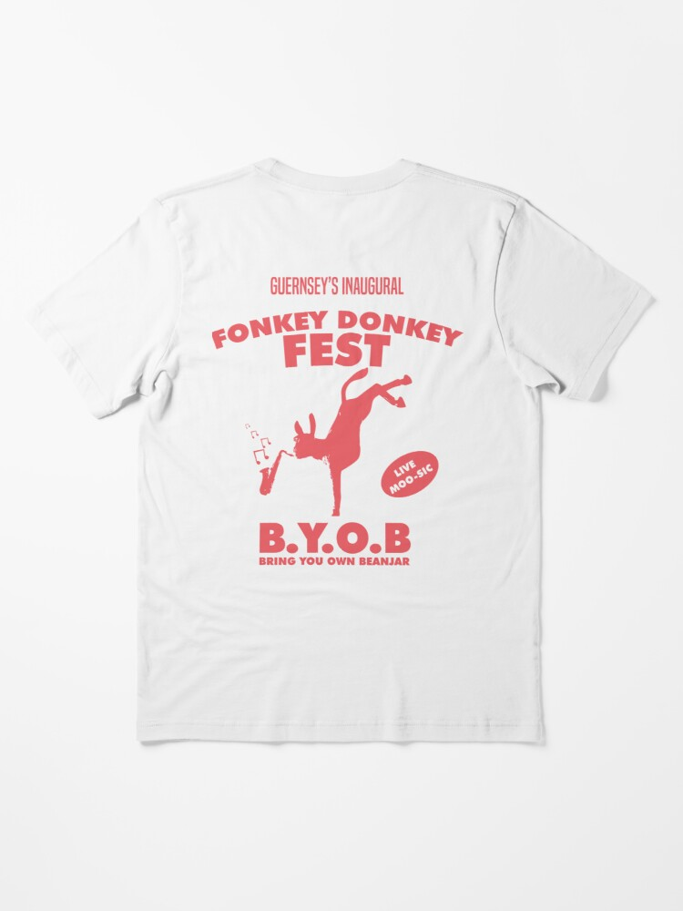Alternate view of Fonkey Donkey - Coral Essential T-Shirt