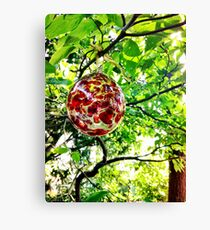 Glass Globe in the Garden Canvas Print