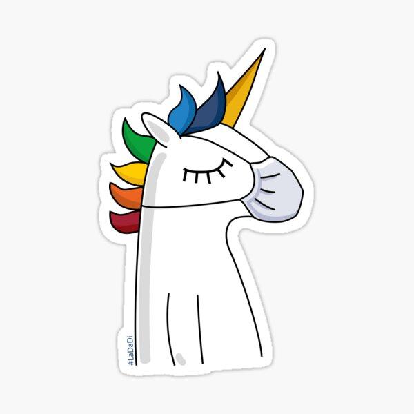 face mask unicorn Sticker