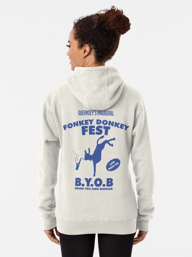 Alternate view of Fonkey Donkey - Blue Pullover Hoodie