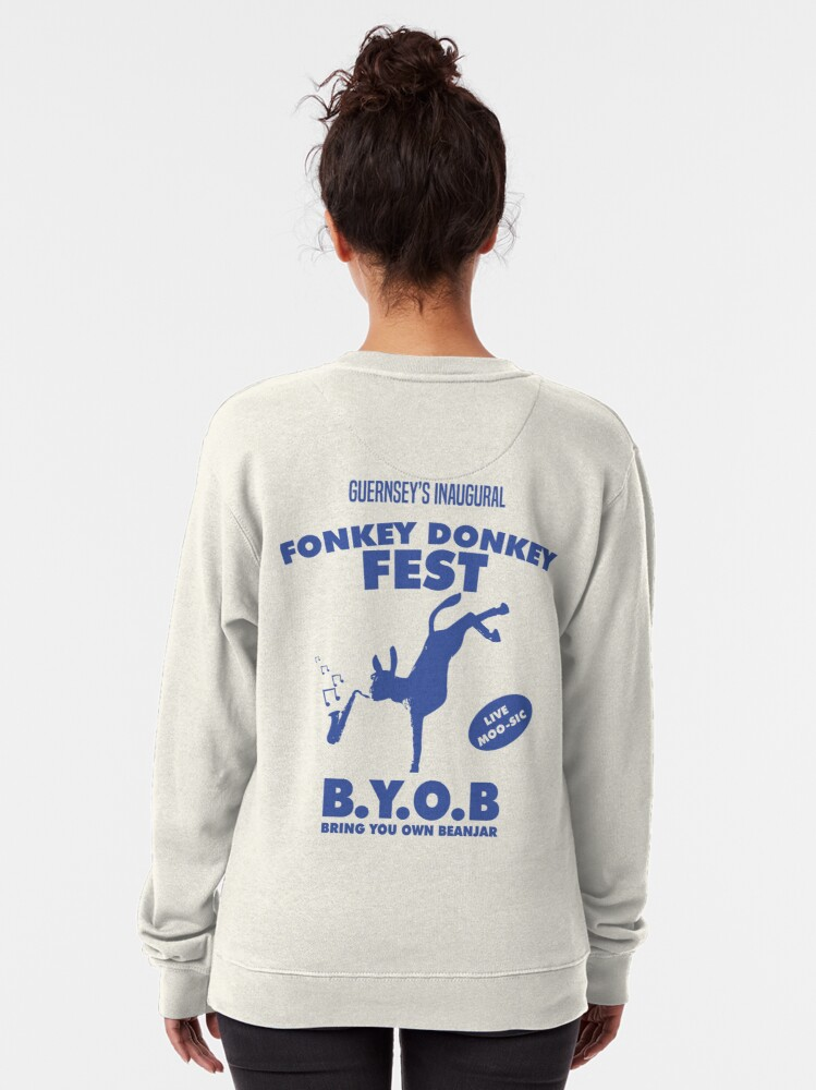 Alternate view of Fonkey Donkey - Blue Pullover Sweatshirt