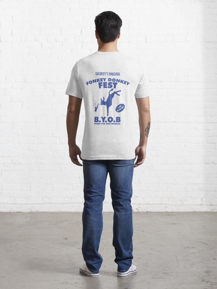 Alternate view of Fonkey Donkey - Blue Essential T-Shirt