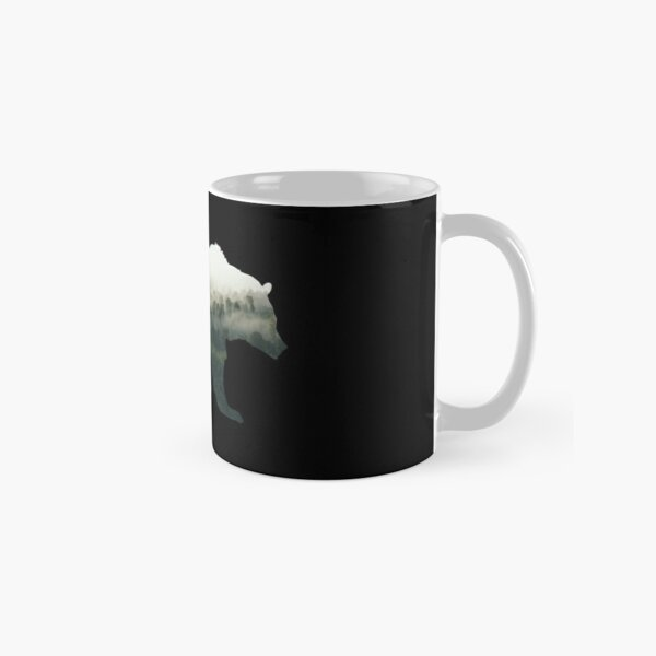 Bear with Misty Forest - Double Exposure Classic Mug
