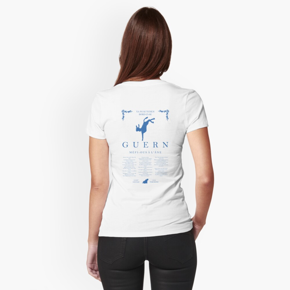 Beware of the Donkey - Blue Fitted T-Shirt