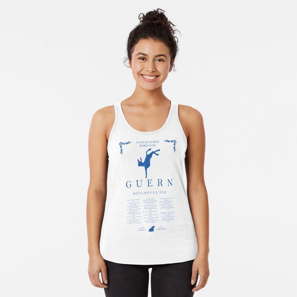 Beware of the Donkey - Blue Racerback Tank Top