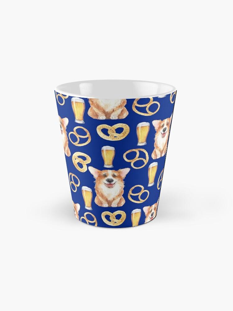 Alternate view of Corgi on Original Bavarian Oktoberfest Mug