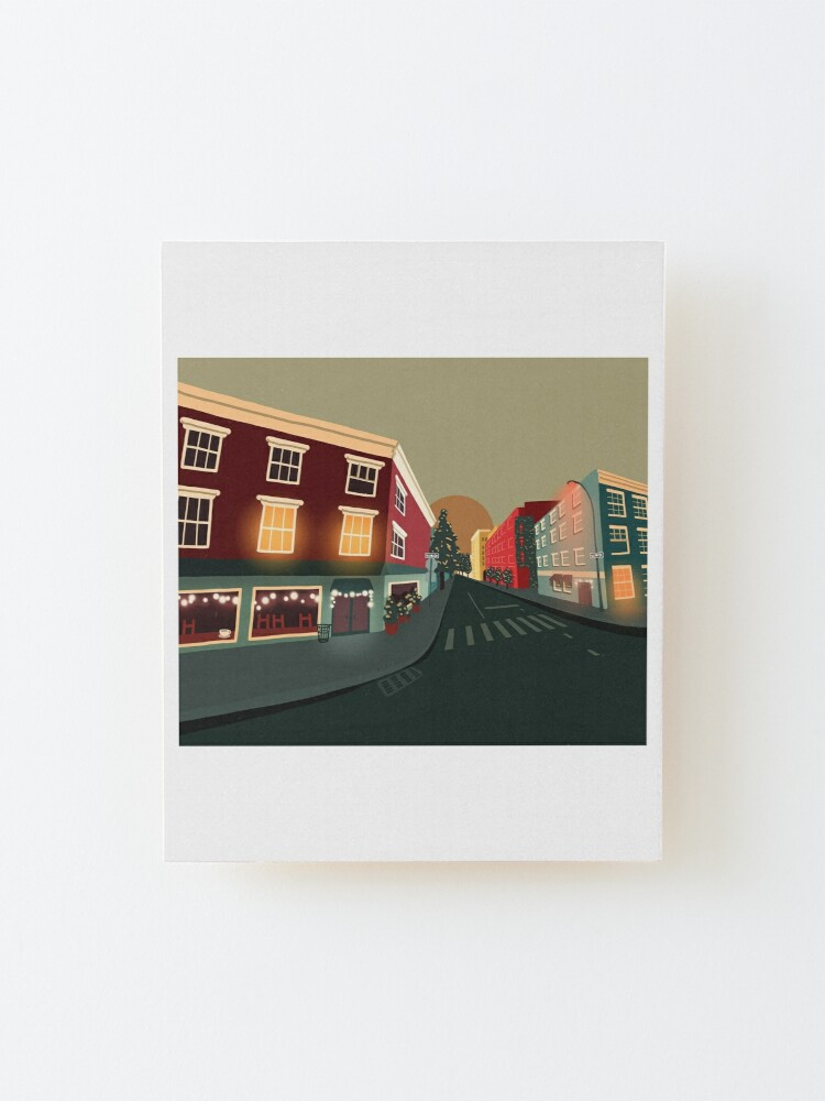 Alternate view of Greenwich Village, NY Mounted Print