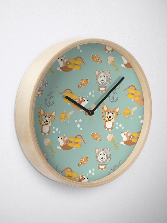 Alternate view of My Corgi World - Majesty Pembroke - Cute welsh cardigan corgis are diving Clock