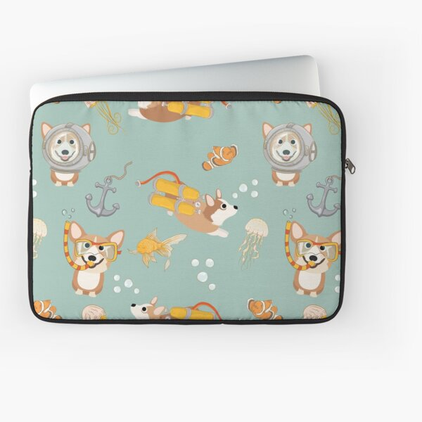 My Corgi World - Majesty Pembroke - Cute welsh cardigan corgis are diving Laptop Sleeve
