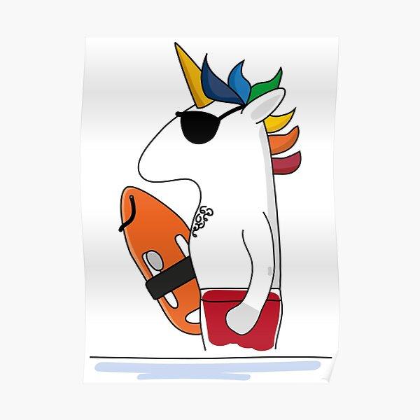Lifeguard unicorn Poster