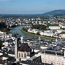 Salzburg Cityscape by phil decocco