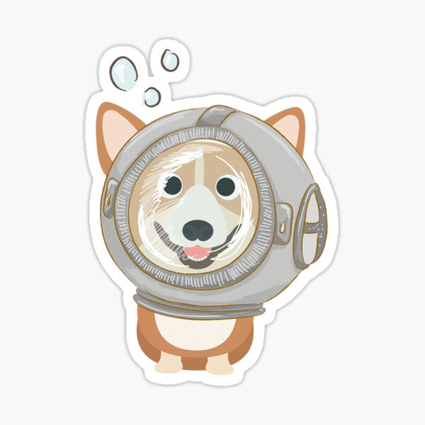My Corgi World - Majesty Pembroke - Cute welsh cardigan corgis is diving Sticker