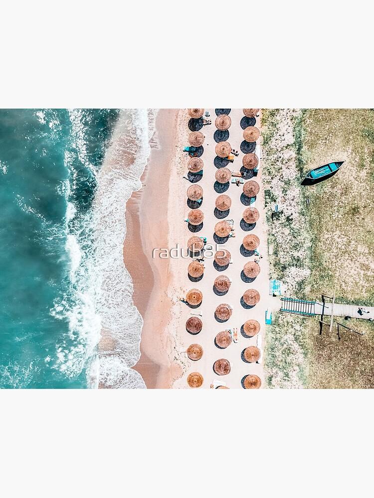 People On Beach, Drone Photography, Aerial Sea Photography, Ocean Wall Art Print, Framed Art Print, Ocean Waves by radub85