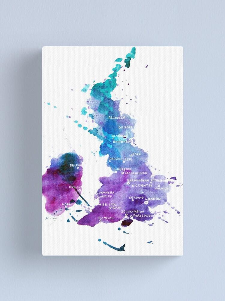 Britain Watercolour Preston gift home decor picture poster print