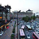 Taken From The Xi'an City Wall, China. by Ralph de Zilva