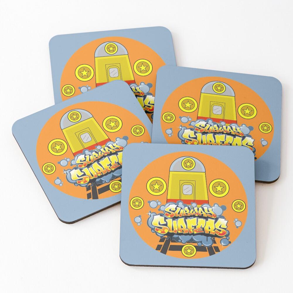 subwaysurfers, subway surfers, subsurf Coasters (Set of 4)