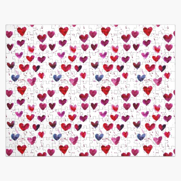 Hearts in Watercolour Jigsaw Puzzle